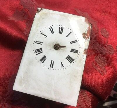 French Carriage Clock Movement For Spares Or Repair Balance Swinging Freely