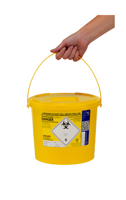 7 Litre Sharps Bin Box, Needle,Medical Waste, Lightweight Compact travel 7000 ml