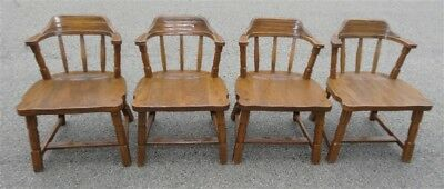 1960s A. Brandt RANCH OAK 4 Mates Dining Chairs 2843-10 * Nut Brown