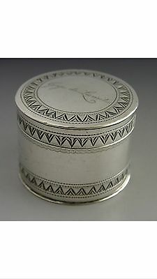 EARLY FRENCH SOLID SILVER SNUFF COUNTER BOX c1780 ANTIQUE