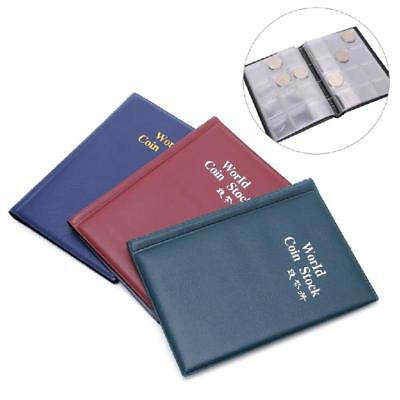 Collection Storage Money Penny Pockets Album Book Collecting 120 Coin Holders