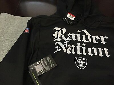 Wholesale MENS OAKLAND RAIDERS NATION Nike THERMA Local Sideline Player HOODIE  for cheap