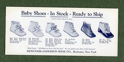 "NEWCOMB-ANDERSON SHOE CO Ink Blotter - 4""x9¼"", Baby Shoes, Rochester NY, NM"