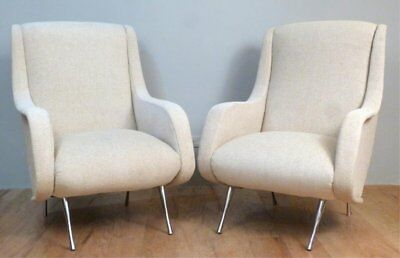 Pair of mid-century lounge chairs - Style of Marco Zanuso Arflex Italian