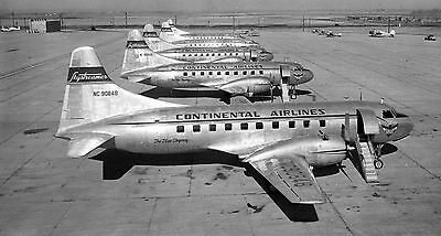 "Continental Airlines Convair 240 ((16""x120"")) Print"