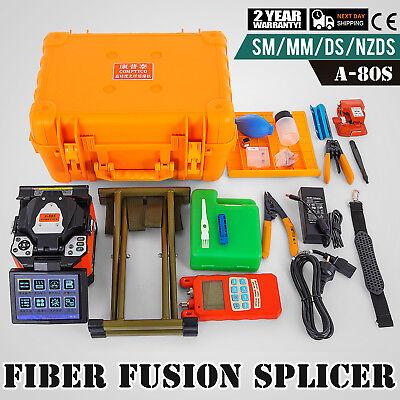 "A-80S Automatic Optical Fiber Fusion Splicer Night Operation 9"" LCD Display"
