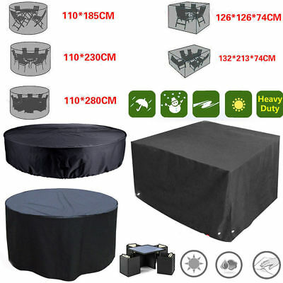 Uk Waterproof Garden Patio Furniture Set Cover Covers Rattan Table Cube Outdoor