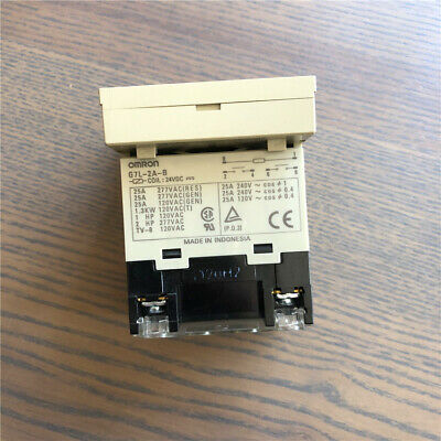 G7L-2A-B 24VDC POWER Relay 25A 277VAC w/P7LF-D Socket x 1pc