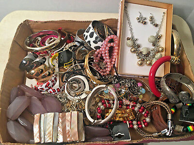 Lot Of 3lbs Vintage To Modern Costume Jewelry Lot G