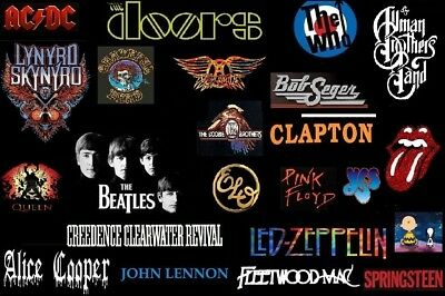 """BEST CLASSIC ROCK (1,500 Songs)  60's 70's 80's - Pre-Loaded / USB  - """"SEE LIST"""""""