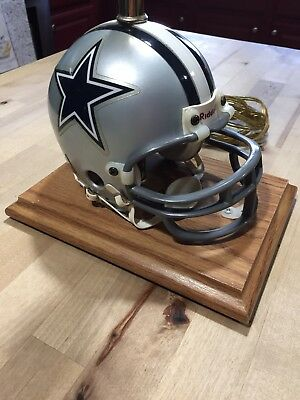 Vintage Dallas Cowboys Lamp Helmet Made By Riddell 18 Height
