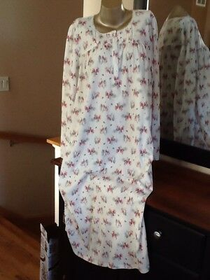 Croft And Barrow Ballerina Long Sleeved Nightgown Plus Size 3X Cardinal Print
