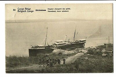 """CPA - Carte Postale Congo """"Belge"""" Steamer chargeant des galets-1920 -  S4819"""
