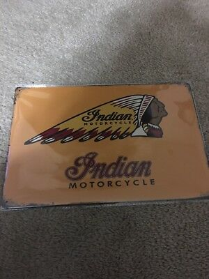 INDIAN MOTORCYCLE Vintage Style Tin Metal Sign