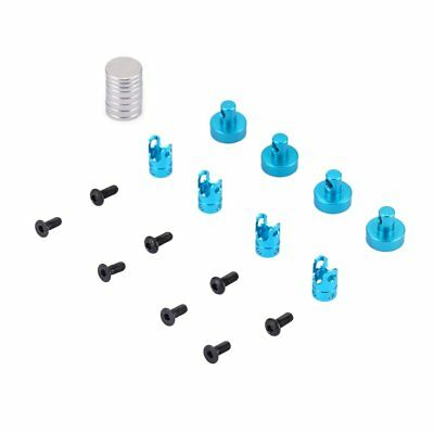 Alloy Magnetic Stealth Invisible Body Post Mount for 1/10 AXIAL SCX10 RC Car JQ