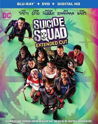 Suicide Squad: Extended Cut  (Blu-ray, DVD) - FREE SHIPPING ™