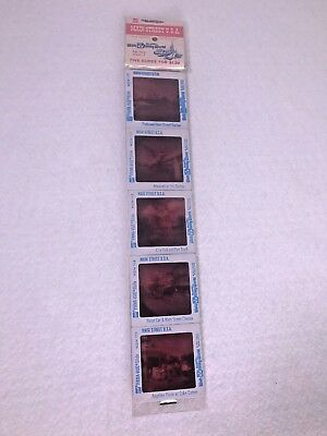Vintage Pana-Vue Slides (5) Walt Disney World Main Street USA Travel Pics WDW-11