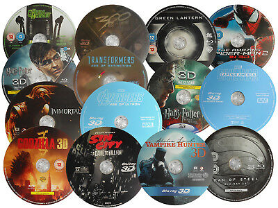 3d Blu-ray SALE - Never Played Like New - Popular Titles - DISCS ONLY Lot