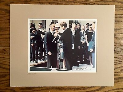Alan Shepard Mercury Astronaut and Moonwalker Signed 8x10 Photo with COA