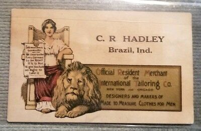 C.R. Hadley Brazil Indiana International Tailoring Co Clothes For Men Card
