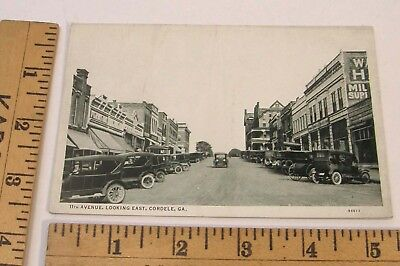 VINTAGE 1920'S POSTCARD 11th AVENUE DOWNTOWN CORDELE, GEORGIA