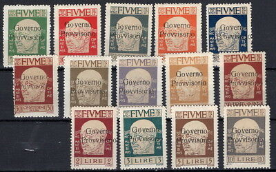 Fiume, MNH Mi. 114-28  (without 124, 114 and 126 MNH/MH)