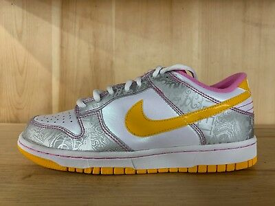 official photos 796f0 f0683 VINTAGE NIKE DUNK Low White Del Sol Yellow 2009 Gs Kids Sz 6 Y 309601-173