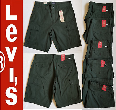 eef68457e0 Levis Mens Carrier Cargo Shorts Ripstop Racing Green Size,30, 33, 34,