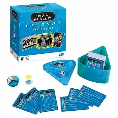 + Trivial Pursuit Friends TV Show Quick Play Bite Size Travel Wedge Game 61:4
