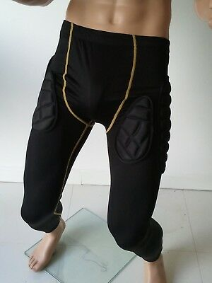 SPS Mens PADDED Sports Compression Long Pants leggings Skins for contact sports