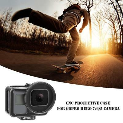 CNC Protective Case Cage Mount w/UV Lens Filter for GoPro Hero 7 6 5 Camera
