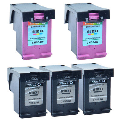 3PK Black+2PK Color Compatible with HP 61XL Ink Officejet 2620 4630 4632 4635