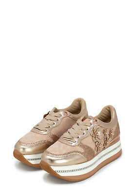 GUESS FL5HIN LAC12 Hinder Sneakers Scarpe Donna Pizzo Platform ... f1d33a7738f