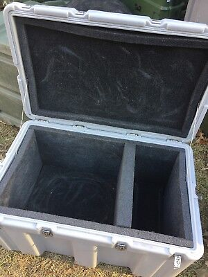"Hardigg Case Grey 33x21x19""Hinged with Foam ...Free Shipping"