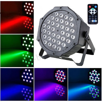 AU 72W 36-LED RGB Auto Strobe Sound Control DMX-512 Stage Lighting DJ Light !