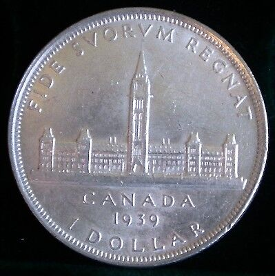 Canadian 1939 Commemorative  Silver Dollar