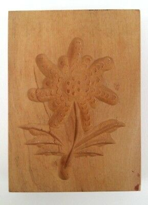 altes  Holz Model Springerle Spekulatius Backform Blume  8 x 6 x 1,5 cm