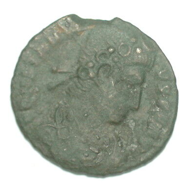 Roman Bronze Coin Follis Constantius Ii Two Victories Siscia Mint