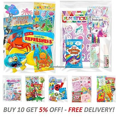 Kids Pre Filled Childrens Boys Girls Party Bags For Birthday Parties ** 5% OFF *