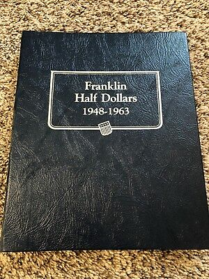 Complete 35-coin Franklin Half Dollar Set In Whitman Album With BU 1955!