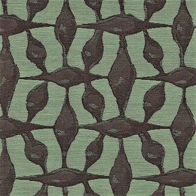 CF Stinson Spindles Fig Eggplant & Seafoam Green Contemporary Upholstery Fabric