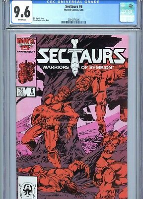 Sectaurs #6 CGC 9.6 White Pages Marvel Comics 1986