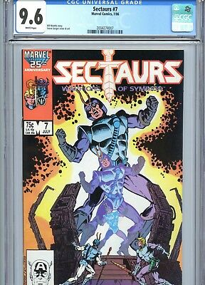 Sectaurs #7 CGC 9.6 White Pages Marvel Comics 1986