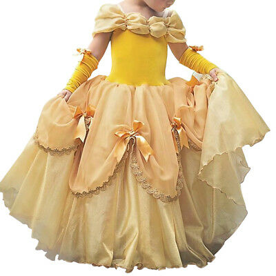 Bell Fancy Costume Beauty and the Beast Dress for Kid Girls Carnival Birthday