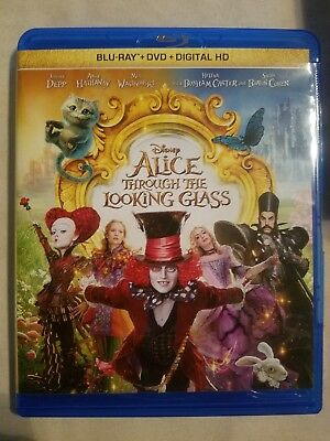 Disney: Alice Through the Looking Glass (Blu-ray) Johnny Depp *Ships FAST!!!