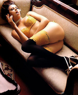 GLOSSY PHOTO PICTURE 8x10 Charlize Theron Lingerie