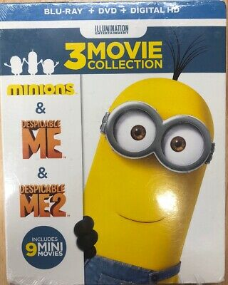 Despicable Me 3-Movie Collection Sandra Bullock Kids & Family discs 6 Blu-ray