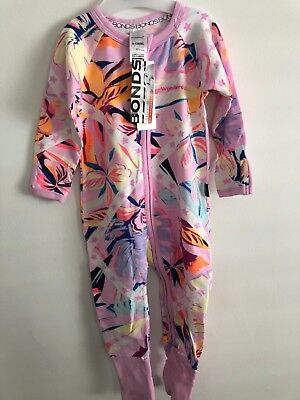 Bonds Baby Zip Wondersuit/babygrow Nwt Coastal Star Unisex All Sizes