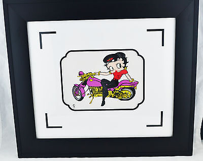 Betty Boop: Motorcycle Mama Mini 6 X 8 Framed with Appraisal Sericel