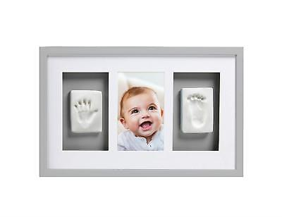 Pearhead Babyprints Newborn Baby Handprint And Footprint Deluxe Wall Photo & No